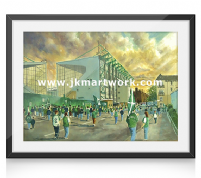 easter road going to the match a3 size print